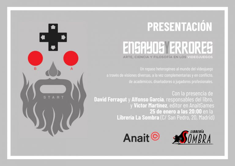 Nueva presentación de Ensayos y errores, nuestro último libro, este mes en Madrid