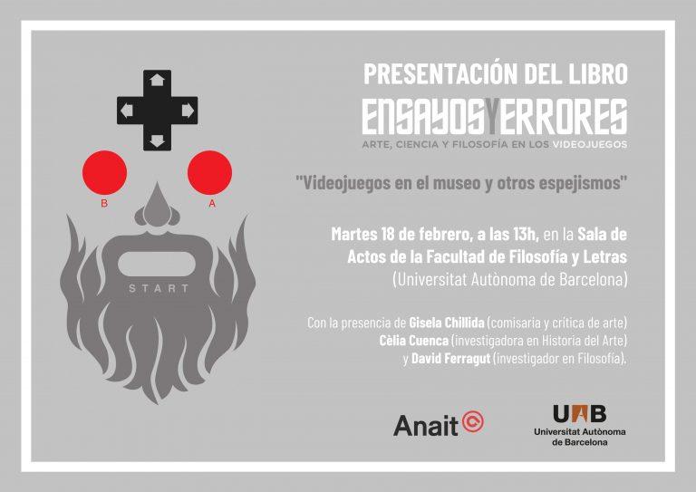Presentamos Ensayos y errores en la Universitat Autònoma de Barcelona el próximo martes